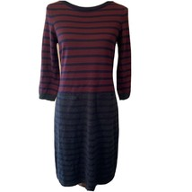 Talbots Womens Multi Color Striped Wool Blend Sweater Dress Size Small P... - $24.75