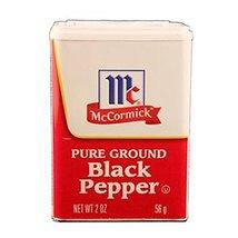 Mcormick Black Pepper, 1 Count (SALT & PEPPER) - $5.94