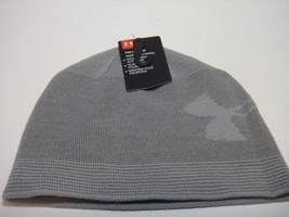 Under Armour Coldgear Mens Beanie Hat Color Gray - $21.46