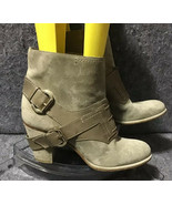 Vintage Christian Dior Suede Buckle Lace Up Tan Ankle Boots Size US9.5-1... - $247.50