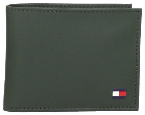 Tommy Hilfiger Men's Dore Passcase Billfold,Green,One Size