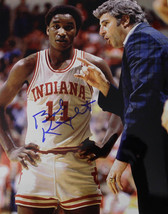 Bobby Knight signed Indiana Hoosiers 8x10 Photo w/ Isiah Thomas (1981 Na... - $64.95