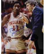 Bobby Knight signed Indiana Hoosiers 8x10 Photo w/ Isiah Thomas (1981 Na... - $64.95