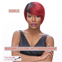 IT'S A WIG SYNTHETIC WIG 'SABLE' COLOR: NTT1B/REDWINE HEAT SAFE 350 F