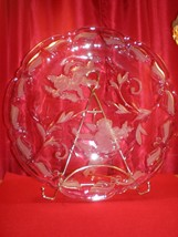 """Mikasa 15"""" Crystal Plate 2 Angels Or Cherubs Mint Condition Beautiful - $29.99"""