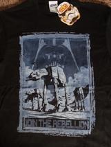 Star Wars Join The Rebellion Darth Vader At At Distressed T-Shirt S M - $13.00