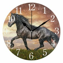 "Nice Wall Clock 9.45"" Horse Colorful Modern Style Country Shabby Chic Fa... - $49.00"
