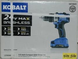 Kobalt 0672823 24v Max Brushless Compact Drill Driver Kit Cordless New in Box image 1