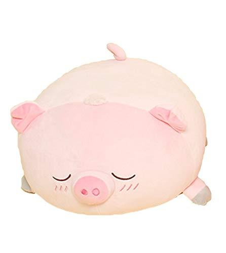 The Mese Toys Soft Mochi Fluffy Cushion Stuffed Animal Pig Plush Toy 15.7""