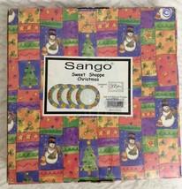 Sango SWEET SHOPPE CHRISTMAS Set of 4 Dinner Plates Sue Zipkin 3041 NIP - $39.59