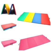 Gymnastics Gym Folding Exercise Mat Gymnastics Tumbling Aerobics Yoga Pi... - $1.295,01 MXN+