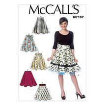 McCall's Patterns M7197 Misses' Skirts Sewing Template, A5 (6-8-10-12-14) - $14.21