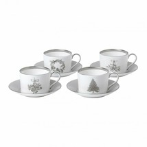 Wedgwood Winter White Teacup & Saucer Set of 4 # 40032858 New - £181.86 GBP
