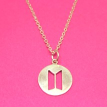 925 Sterling Silver BTS Emblem Symbol Hip Hop Rock Necklace Pendant - $42.00