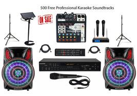 Karaoke System Home/Professional Machine Mixer w/Dual Cordless Mics - $649.59