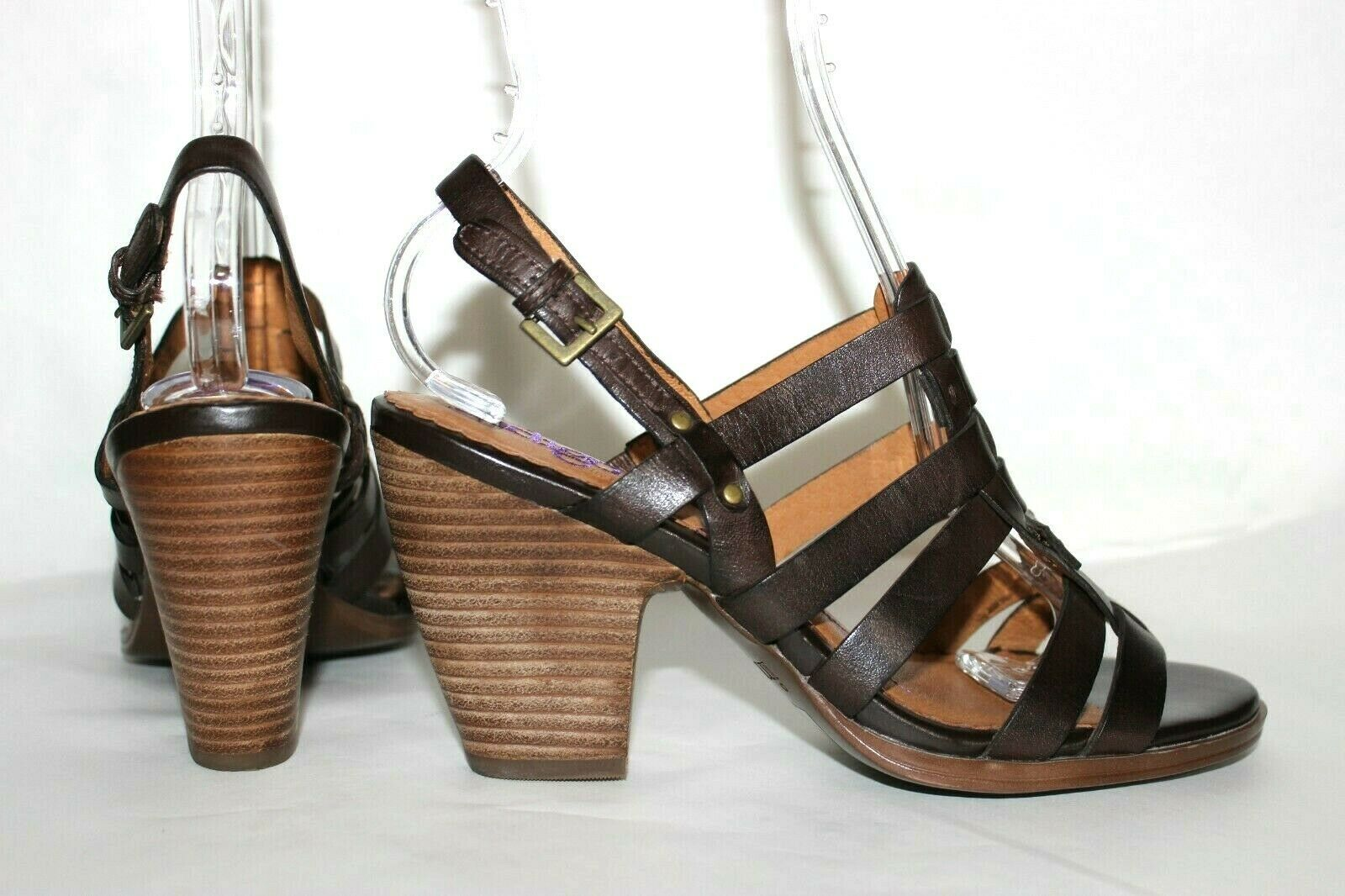 ✿ INDIGO by Clarks Woven Strappy Slingback Heeled Sandals 8 M EXCELLENT! L@@K!26 image 4