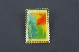 Vintage Breast Cancer Fund The Fight Stamp Brooch Pin USPS Licensed - $21.47