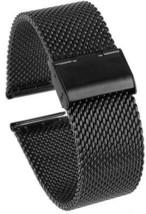 Beauty7 Heavy Black 24mm Stainless Steel Mesh Watch Band Bracelet Strap... - $29.26