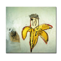 "Jean Michel Basquiat ""Banana"" HD print on canvas large wall picture 28x24"" - $25.73"