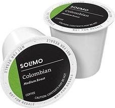 Amazon Brand - 100 Ct. Solimo Medium Roast Coffee Pods, Colombian, Compa... - $55.76