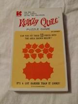 Vintage Hi Q Kwazy Quilt Solitaire Puzzle Game Collectible KOHNER Comple... - $14.95