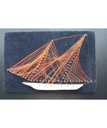 Vintage Copper Wire Art Sail Boat Ship Picture Wall Hanging Nautical  wa... - $25.73