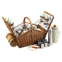 Picnic At Ascot Huntsman Basket for 4 with Coffee & Blanket in Gazebo - $276.84