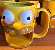 Universal Studios Exclusive The Simpsons Ceramic Homer Mug New - $35.88