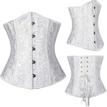 Women Sexy Corsets And Bustiers Lace Up Waist Trainer With Zipper Gothic... - $24.00