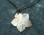 Vintage Costume Jewelry, Carved Mother of Pearl, Shell, Star Pendant NK200