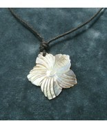 Vintage Costume Jewelry, Carved Mother of Pearl, Shell, Star Pendant NK200 - $12.69