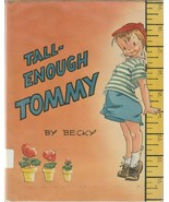 Tall Enough Tommy by Becky 1946 Playground Vintage Picture Book for Chil... - $9.89