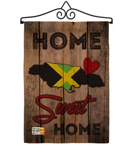 Country Jamaican Hogar Dulce Burlap - Impressions Decorative Metal Wall ... - $33.97