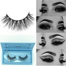 Miss Kiss 3D Mink Lashes Strip Cruelty Free Reusable 100% Siberian Mink ... - $10.99
