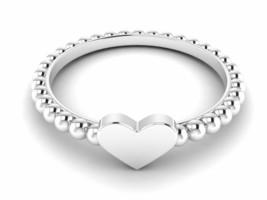 "925 Sterling Silver ""LOVE HEART"" Braided Band White Gold Rhodium Stateme... - $14.76"