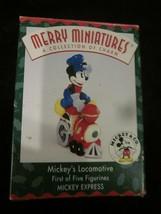 Hallmark 1998 Merry Miniatures Mickey's Locomotive Mickey Express First of Five - $9.99