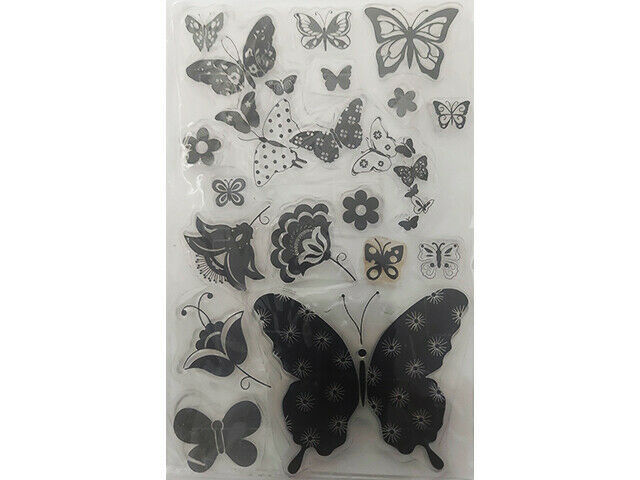 Butterflies Clear Stamp Set