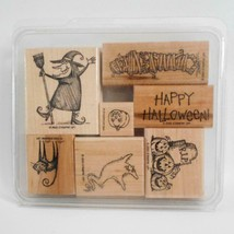 Stampin Up Spooktacular Greetings 7 Stamp Set Halloween Theme 2000 - $19.79
