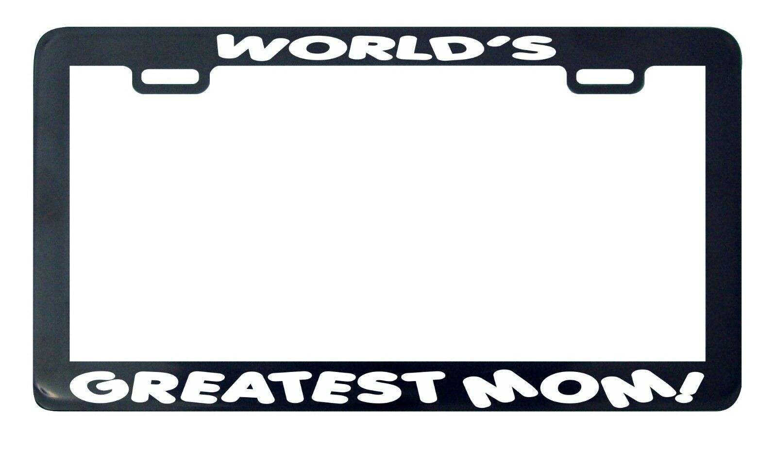 Primary image for World's Greatest Mom license plate frame holder tag