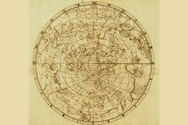 Celestial Map of the Mythological Heavens with Zodiacal Characters by Sir John F - $19.99+
