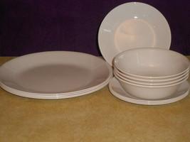 Lot 12 Corning Corelle SANDSTONE BEIGE 4 Dinner Plates, 4 Bread, 4 Cerea... - $59.39