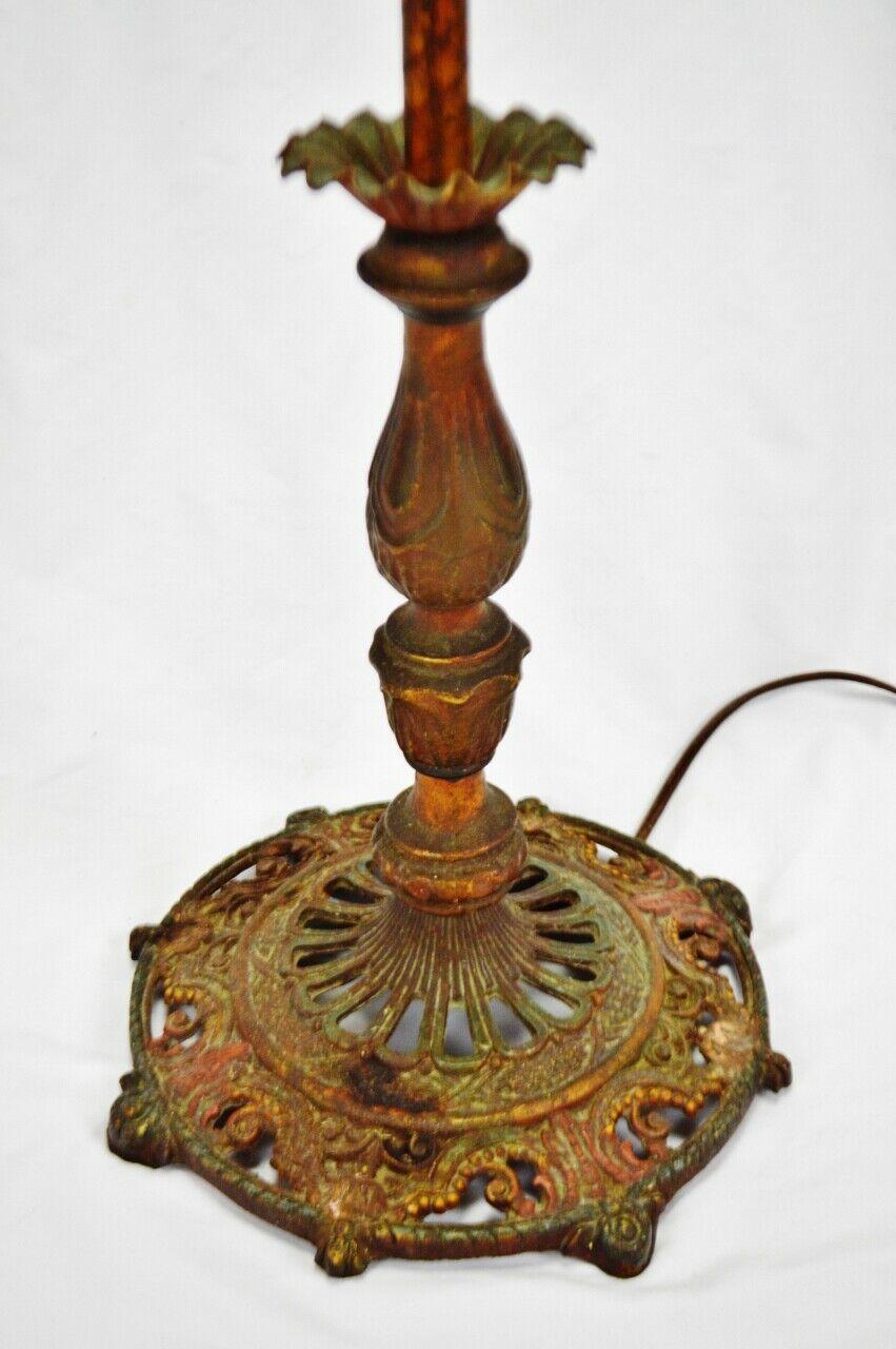 Vintage Art Deco Metal Floor Lamp with Dual Fixture image 9