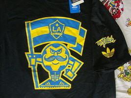 New NWT LA Galaxie Mr. Pitch Soccer Black T Shirt Men's size L - $26.67
