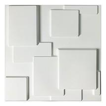 Art3d Decorative Tiles 3D Wall Panels for Modern Wall Decor, White, 12 Panels 32