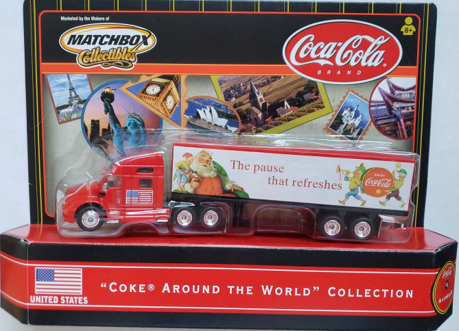 Primary image for COCA-COLA Around The World Collection #4 of 6 MatchBox Rig Collectibles 2000 USA