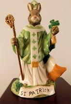 "Royal Doulton Bunnykins Figurine - ""St. Patrick"" DB397 - W/Box & COA - $90.24"