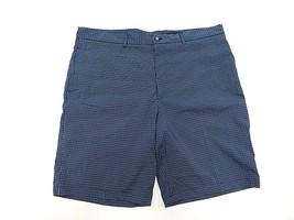 GREG NORMAN Blue GOLF Plaid Polyester/Spandex Shorts Adult Men's Size 38 - $29.65