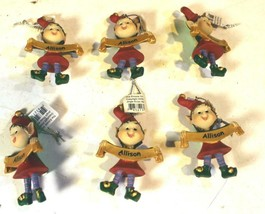 Christmas Ornaments - WHOLESALE- Russ BERRIE-#13801- ALLISON- 6 PCS- New -W741 - $5.14