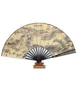 Bamboo Handheld Folding Fan Chinese Silk-Like Folding Fan Home Decoratio... - $27.18