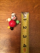 RARE Vintage Clown Pendant  Colorful Round Ball Body Clown Pendant  - $98.99